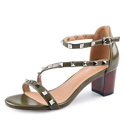 Chaussures Rivet D'été / Sandales À Talons / Dames Open Toe Sandals A