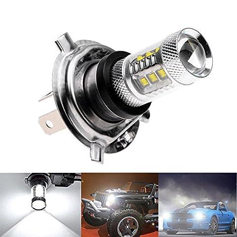 Inlink 2 * H4/9003/HB2 80W CREE WHITE LED-Lampen 16 SMD LED Lauf Lampe Scheinwerfer-Nebel-Scheinwerfer-Birne DC12V