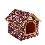Hifuture Haustier Haus Warm Hund Katze Haustier Nest Höhle Bett, Faltbares Waschbar Haustierhaus(Brief)