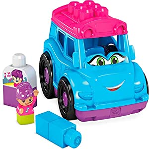 Mega Bloks Autobús descapotable, juguete de construcción para niños +1 año (Mattel GCX12)