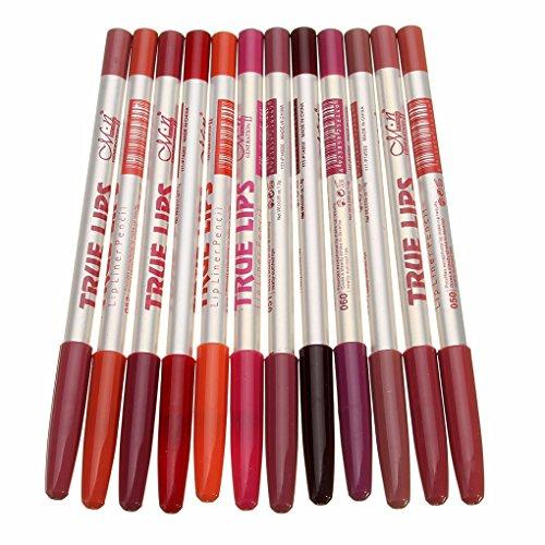 Professionelle Lip Liner (Hotaluyt 12st Long Lasting Eye Liner Pen Wasserdicht Professionelle Lip Liner Bleistift Makeup)