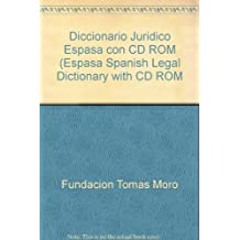 Diccionario Juridico Espasa con CD ROM (Espasa Spanish Legal Dictionary with CD ROM