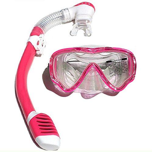 VILISUN – Taucherbrille mit Schnorchel Kinder, Anti-Leck & Anti-Fog Schnorchelset Tauchset Kinder, Tauchermaske und Schnorchelrohr, ideal für Tauchen, Schnorcheln und Schwimmen (Rosa)