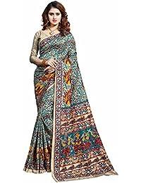 Miraan Printed Art Silk Women's Saree With Blouse Piece(36)