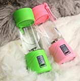 MHGAO Caricabatteria elettrica Mini Juicer USB Safety Juicer Cup, miscelatore di succo di frutta, Coppa di ricambio multifunzionale ricaricabile di tazza di succo di frutta, pink