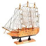 F Fityle Vintage Holz Modellschiff Segelboot Modell Kunst Handwerk Dekoration Sammlerstück - # C
