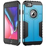 JETech Coque iPhone 8 et iPhone 7, Double Protection avec Shock-Absorption, Bleu