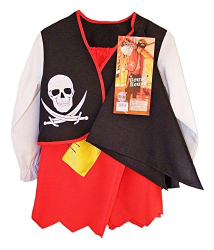 Kinder Piraten Kostüm Braveheart mit Bandana - Gr. (Kinder Braveheart Kostüm)