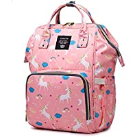 Motherly Baby Diaper Bag, Mothers Maternity Bags for Travel (Unicorn Pink)