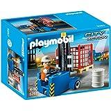Playmobil - 5257 - Jeu de Construction - Elévateur avec Ouvrier