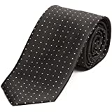 Cravate de Fabio Farini à pois en noir blanc