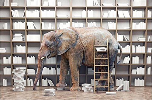 HHCYY Kundenspezifisches Modernes Wandbild Hd Elefant-Foto-3D Tapete Kreative...
