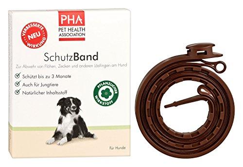 PHA Hund, Abwehr gegen Flöhe und Zecken, Schutzband, Frei von Fipronil, Für alle Hundegrößen, 1 x 60 cm