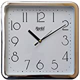 Ajanta Fancy Wall Clock For Home And Office Silver Square