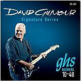 Ghs Set 6 corde per chitarra elettrica, firma David Gilmour, Blu