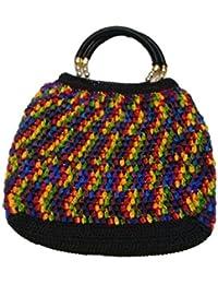 Sukla Creation Women's Casual Multi-Coloured Handbag (SUKLAC-008_Multi-Coloured)