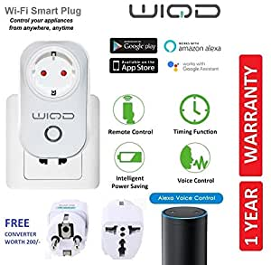 WIQD Smart Wifi Plug Socket, Compatible with Alexa And Google Assistant / Home Voice Control