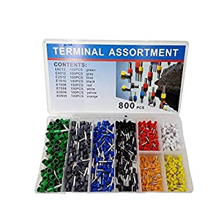 800 PCS Ferrules kit, VFENG Wire Ferrules Crimp Connector, Insulated Cord Pin End Terminal AWG 22-10 Kit,Great Assortment Ferrules Kit with Case