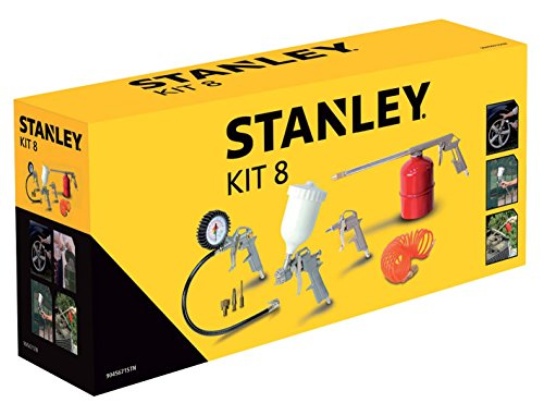 Set Accessori Aria Compressa Kit 8 Pneumatic Stanley
