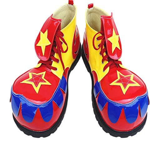 XINXIN Gelb-Rot-Blau Übertriebene Lustige Big Head Magic Show Schuhe Halloween Cosplay Lustige Show-Requisiten