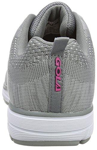 Gola Damen Fortuna Laufschuhe Grau (Grey/Pink)