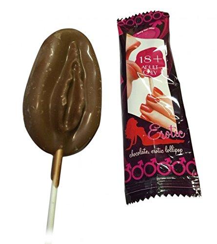 Schokoladen Lutscher Vagina oder Penis sexy erotischer Schokolutscher, Motiv:Vagina