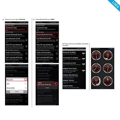 Ldex Bluetooth Diagnose Scanner OBD 2 Android CAN BUS Interface Diagnosegerät funktioniert bei allem PKWs KFZs - 9
