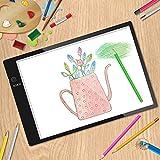 Mesa de Luz,Tableta de Luz,Mesas de Dibujo,Tamaño A4,3 Tipos de Luminosidad Ajustable