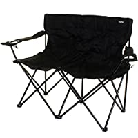 Marko Outdoor Double Camping Chair 2 Seater Folding Portable Fishing Picnic Steel Festival 9