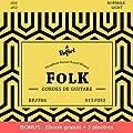 Cordes de première qualité pour guitare folk & guitare acoustique ♫ BONUS - Ebook gratuit + 3 plectres ♫ Corde en Phosphor Bronze (lot de 6 cordes)