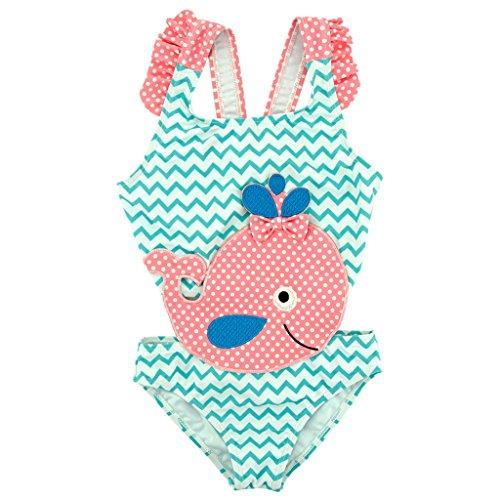 Mädchen Badeanzug Wellenpunkt Tankini Kleinkind Mini Bikini Bademode (Grün, 104/110CM(5 Jahre alt)) (Bademode Mädchen Kleinkind)