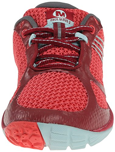 Merrell Pace Glove 3, Chaussures Multisport Outdoor Femme Rouge (red/light Blue)