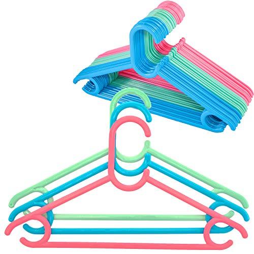 Mr Hanger Kleiderbügel Kinder Baby Kinderkleiderbügel Kunststoff 30Stück Babykleiderbügel Länge 33,5cm Bügel Kinderkleidung Mädchen Baby Kleidung Jungen Hangers Weiß Kleiderschrank Garderobe Set -