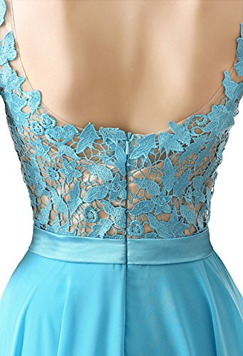 Ikerenwedding - Robe - Taille empire - Femme Small Bleu clair