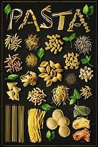 Grande affiche plastifiée Pasta Spaghetti Food POSTER dimensions 36 x 24 inches (91.5 x 61cm) environ