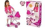 Grandi Giochi- Carrozzina Bambole, Colore Rosa, GG-71283