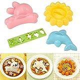 Backgeräte, Kaninchen, Delfin, Reis, Schimmel, 4 Sätze von Süßen, Einfache Mittagessen Gruppe, Japanische DIY, Sushi-Tools.