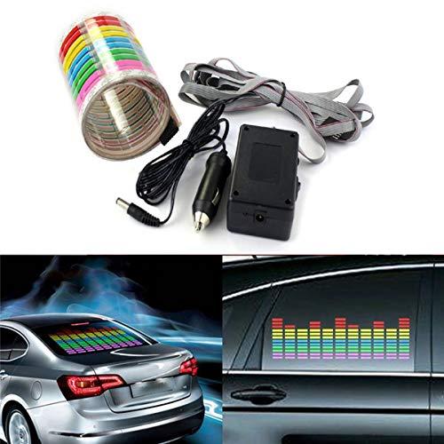 FidgetGear Auto-Fenster Musik Rhythmus Atmosphäre Licht Aufkleber Sound aktiviert Equalizer Lampe