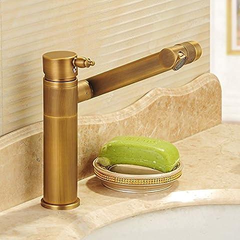 OrgsevTutti antichi BasinHot Cu e doccia fredda 360 gradi di rotazione di lavabi BasinMixer sollevato MixerBathroom