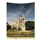 mmzki Warm Frankreich Notre Dame Memorial Tapisserie hängen Tuch dekorative Wand Decke GT-SMY6 150 * 150