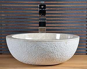Vasque à poser en marbre beige crozon