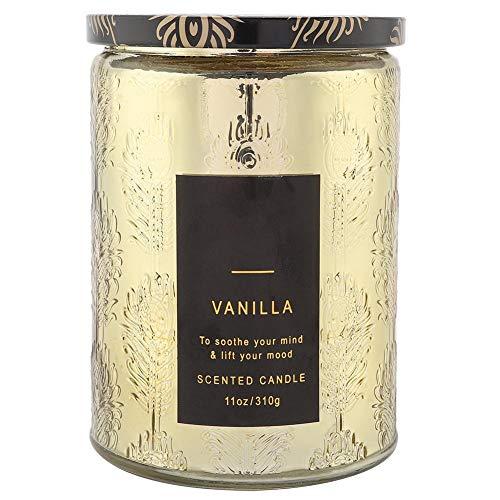 Taidda Vanille-Whisky-Duftkerzen ohne Rauch, zarte Duftkerzen Vanille-Whisky-Wachs mit klarer Glasflasche zur Stressentspannung