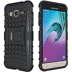 ykooe Coque Galaxy Grand Prime, [Série TPU] Samsung Grand Prime Hybride à Double Couche Téléphone Housse Antichoc étui avec Béquille pour Samsung Galaxy Grand Prime