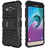 ykooe Handyhülle für Samsung Galaxy Grand Prime Hülle, (TPU Series) Drop Resistance Handys Schutz Hülle mit Ständer für Samsung Grand Prime (Schwarz)