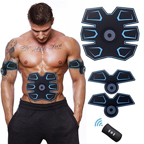 [Prodotti High-Tech] Buydaly Intelligent wireless fitness apparato,Muscolo addominale toner, Portable Fitness Training Gear, esercizio muscolare senza fili per addome/braccio/gamba di formazione
