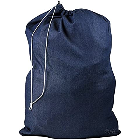 Bolsa para la colada comercial de nailon resistente, tamaño gigante., Azul, 30