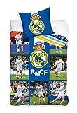 Offizielle F.C. Real Madrid, Barcelona Messi Bettbezug Bettwäsche, 140x 200cm, mit Kissenbezug 70x 80cm, 100% Baumwolle, 100% Baumwolle, Real Madrid 140 x 200cm