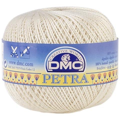 Fil de coton pour le Crochet Petra taille 5-Ecru