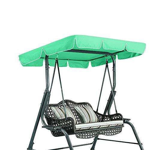 Schaukelstuhl Sitzbezug Wasserdicht Regendicht Anti-UV Staubschutz Protector Swing Canopy Top Cover Ersatz für Veranda Terrasse Garten Garten Hängematte (Green) - Terrasse Chaise Die Für Lounge