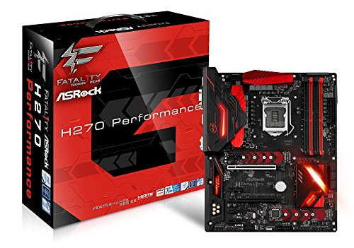 Asrock Fatal1ty H270 Performance Motherboard, Intel H270, LGA 1151 grau - Gigabyte-ethernet Motherboard